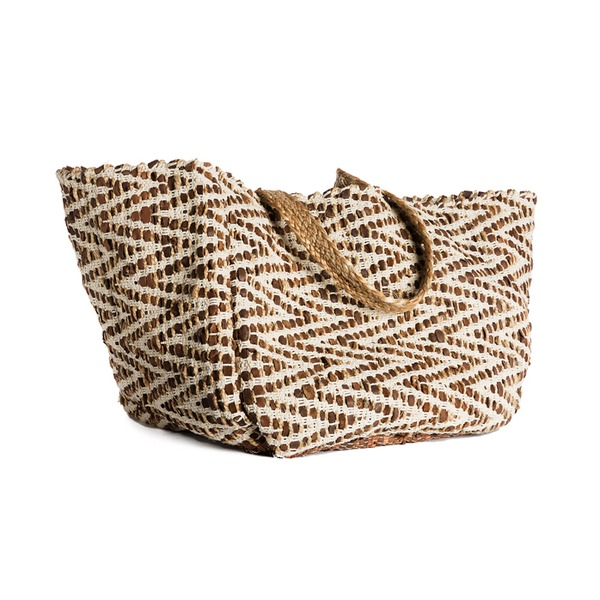 OUTR - BASKET COTTON-JUTE-BROWN LEATHER