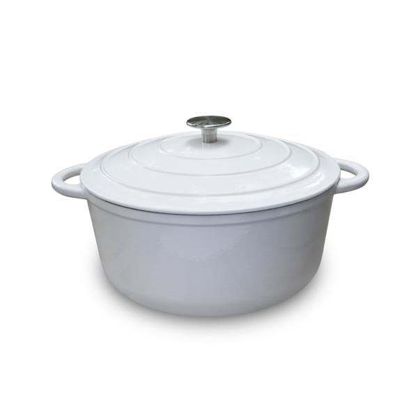 OUTR - Round casserole satin white dia 28 cm